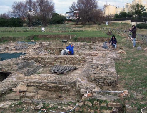 Roman ruins on the shores of the Tyrrhenian Sea
