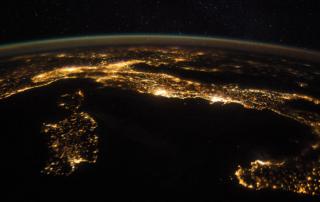 Italy, satellite view