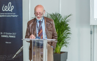 Miele speaking at Cannes' event