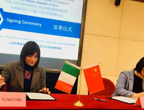 Investment and trade cooperation between Friuli Venezia Giulia Region and Shanghai.