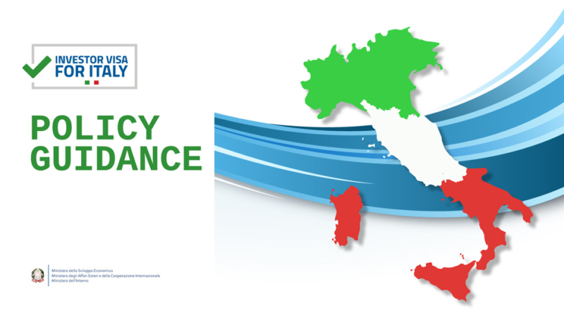 Investor Visa for Italy - Policy Guidance
