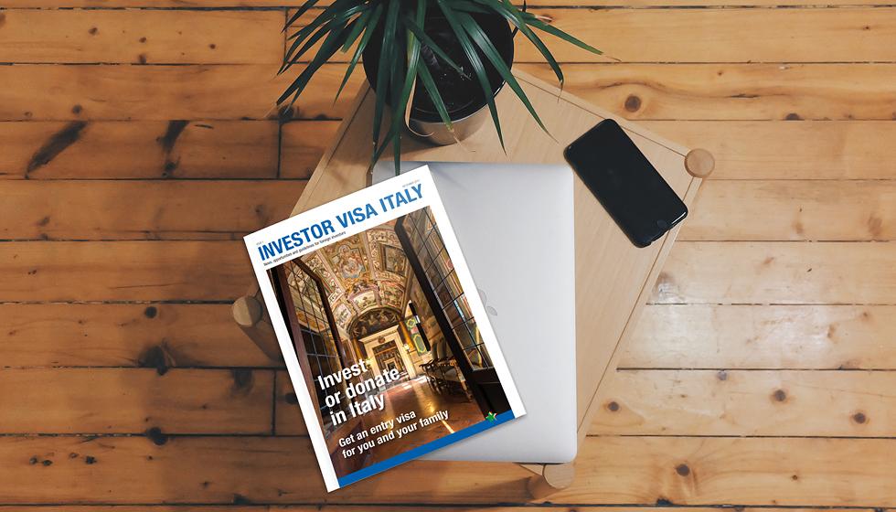 Investor Visa Italy - magazine cover