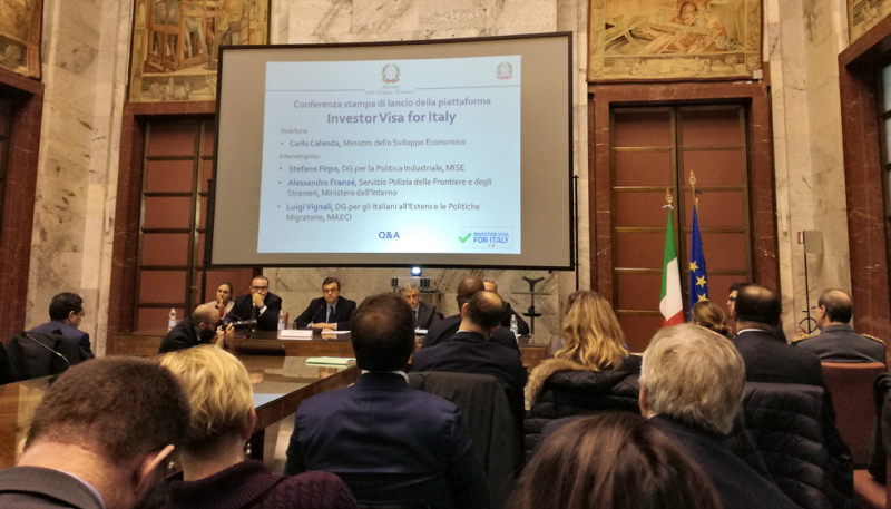 Minister Calenda introduced to the public the latest initiative aimed at enhancing Italian attraction for foreign investors